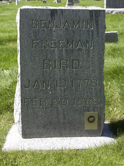 Benjamin Freeman Bird gravestone