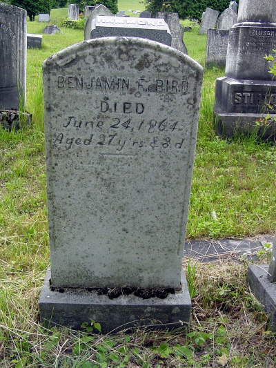 Benjamin Freeman Bird, Jr. gravestone