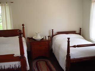 Upstairs bedroom in the Bird/Browning home in Nauvoo