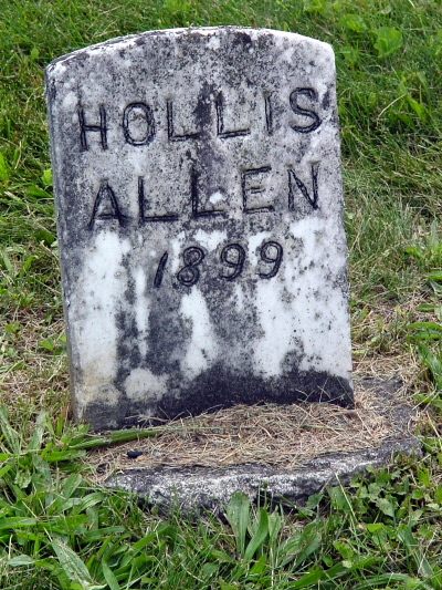 Hollis Allen gravestone
