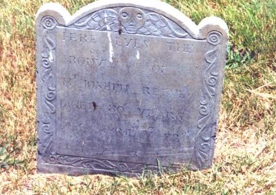Joseph Reeves gravestone