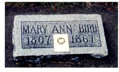 Mary Ann Kennedy Bird gravestone